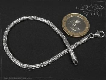 Königskette Armband Rund B3.0L18 massiv 925 Sterling Silber