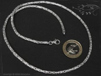 Königskette Rund B3.0L80 massiv 925 Sterling Silber