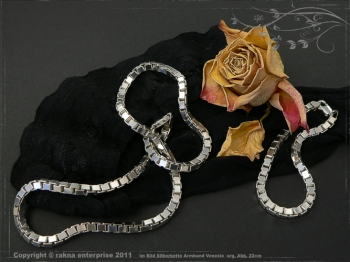 Silberkette Venezia B4.5L50 massiv 925 Sterling Silber