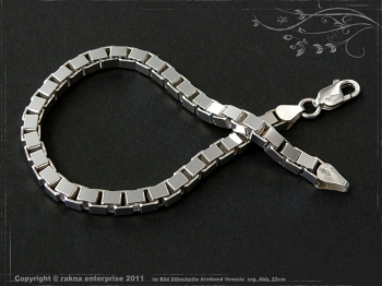 Silberkette Armband Venezia B4.5L21 massiv 925 Sterling Silber