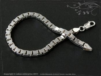 Silberkette Armband Venezia B4.5L22 massiv 925 Sterling Silber