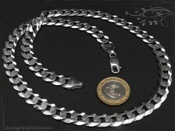 Panzerkette B10.0L80 massiv 925 Sterling Silber