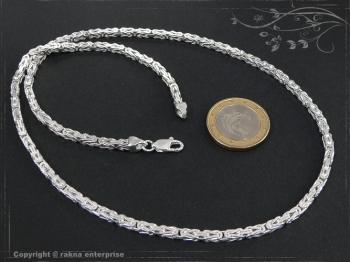 Königskette B3.0L85 massiv 925 Sterling Silber