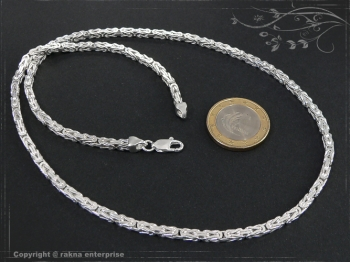 Königskette B3.0L95 massiv 925 Sterling Silber