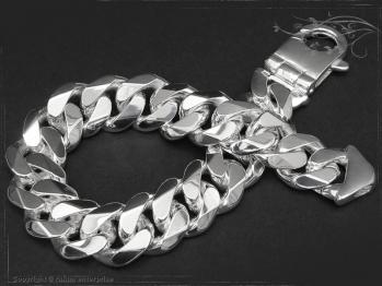 Panzerarmband B14.0L25 massiv 925 Sterling Silber