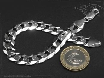 Panzerarmband B10.0L23 massiv 925 Sterling Silber