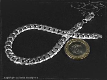 Panzerarmband B7.5L21 massiv 925 Sterling Silber