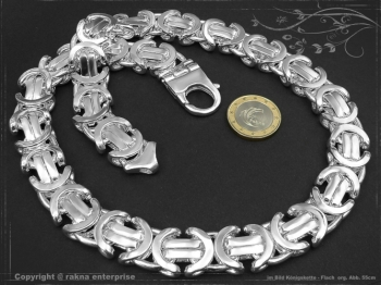 Königskette Flach B17.0L80 massiv 925 Sterling Silber