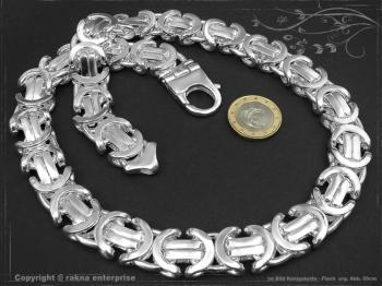 Königskette Flach B17.0L90 massiv 925 Sterling Silber