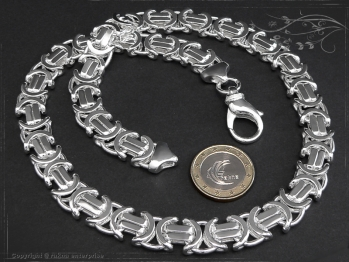 Königskette Flach B11.0L60 massiv 925 Sterling Silber