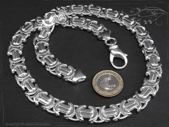 Königskette Flach B11.0L85 massiv 925 Sterling Silber