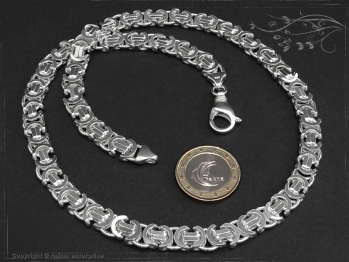 Königskette Flach B9.0L40 massiv 925 Sterling Silber