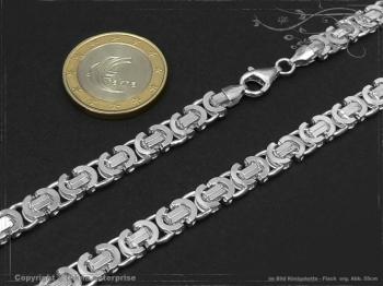 Königskette Flach B6.0L45 massiv 925 Sterling Silber