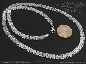 Königskette Flach B6.0L40 massiv 925 Sterling Silber