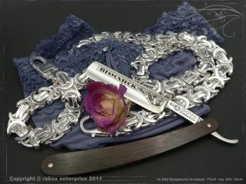 Königskette Armband Flach B17.0L25 massiv 925 Sterling Silber