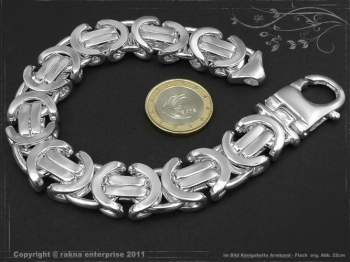 Königskette Armband Flach B17.0L27 massiv 925 Sterling Silber
