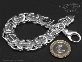 Königskette Armband Flach B14.0L19 massiv 925 Sterling Silber