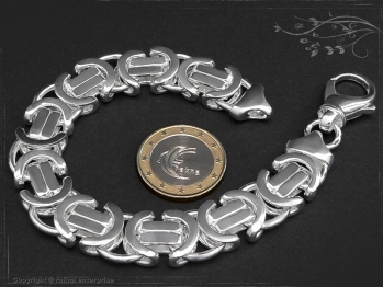 Königskette Armband Flach B14.0L24 massiv 925 Sterling Silber