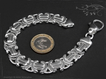 Königskette Armband Flach B11.0L21 massiv 925 Sterling Silber