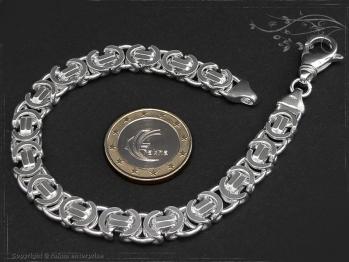 Königskette Armband Flach B9.0L24 massiv 925 Sterling Silber