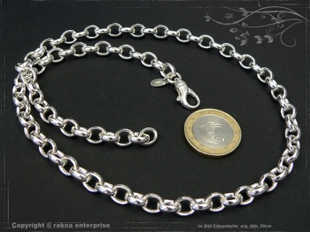 Silberkette Erbskette B7.0L75 massiv 925 Sterling Silber