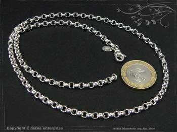 Silberkette Erbsenkette B4.0L50 massiv 925 Sterling Silber