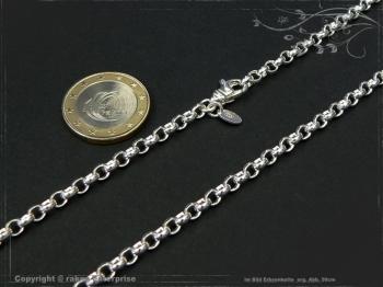 Silberkette Erbsenkette B4.0L40 massiv 925 Sterling Silber