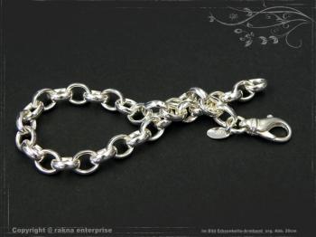 Silberkette Erbsenkette Armband B7.0L17 massiv 925 Sterling Silber