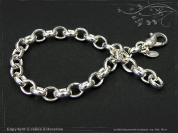 Silberkette Erbsenkette Armband B7.0L22 massiv 925 Sterling Silber