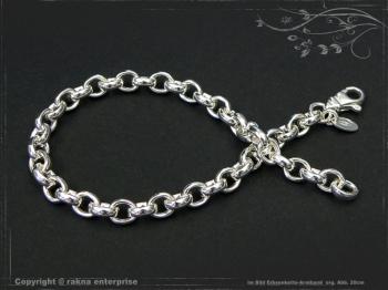Silberkette Erbsenkette Armband B5.5L19 massiv 925 Sterling Silber